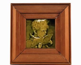 Antique Arthur Osborne for J. & J. G. Low Portrait Art Tile - Boy Reciting Latin