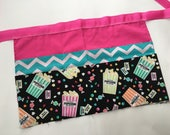 Classroom Apron- Popcorn Party (teal & pink)