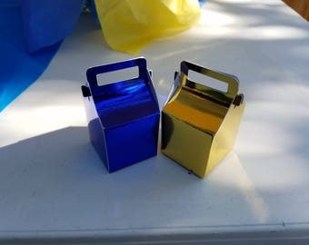 24 Mini Party Favor Gable Boxes - Perfect for Weddings, Graduations, Birthday's, Class Parties, etc.