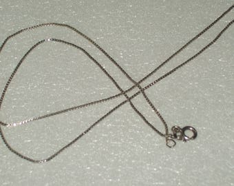 Sterling Silver Box Chain 1mm Necklace - 925- 18 3/4 inch