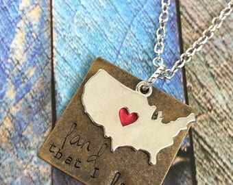 Land That I Love Necklace