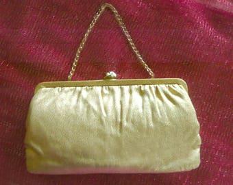 Evening Bag Gold Lame Retro Vintage