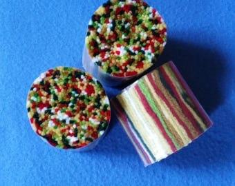 Vintage Multicolored Latch Hooking Rug Yarn, three skeins bundles, new in package NIP