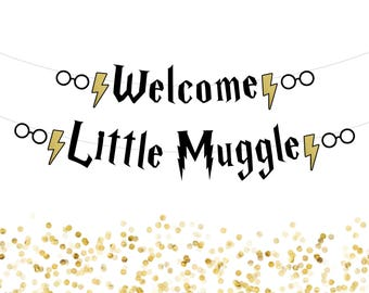 Harry Potter Banner . Harry Potter Baby Shower Banner . Harry Potter Baby Shower . Harry Potter Birthday Banner . Harry Potter Party