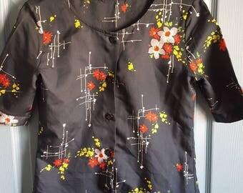 Vintage blouse, 1970's blouse, floral blouse
