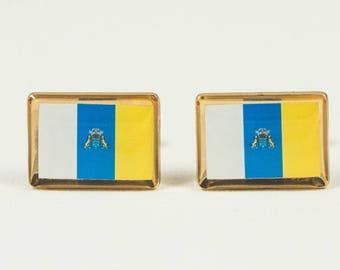 Canary Islands Flag Cufflinks