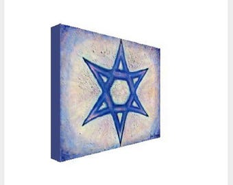 Six-pointed Star Print On Canvas