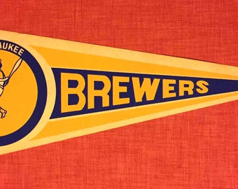 Vintage Milwaukee Brewers Pennant
