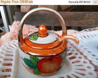On Sale Vintage Noritake Jam Jar & Serving Spoon Art Deco Dinnerware Mad Men Mod Collectible Tableware