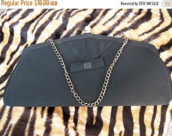 Now On Sale Vintage 1960's Collectible Clutch Purse Rockabilly Mad Men Mod Black Tie Formal Handbag