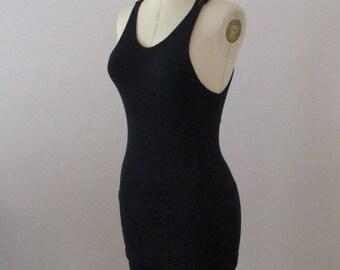 1920s Black Wool Ladies Swimsuit