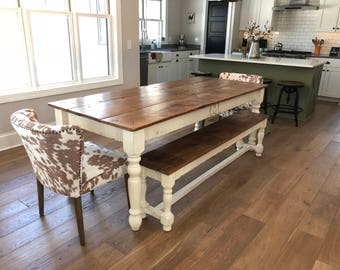 The 6 Foot Family Farm Table - Handmade with Reclaimed wood from Arcadian Cottage
