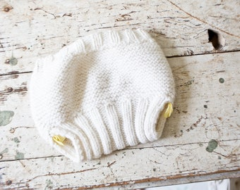 Vintage White Wool Diaper Cover Vintage Bloomers White Cream