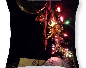 Pillows C3 Christmas Ornaments-Slap Happy Designer Throw Pillows-Artwork by Ria