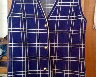 Funky 60s long jersy vest