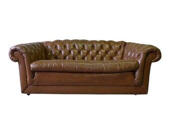 Mid Century CHESTERFIELD SOFA couch tufted