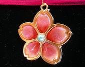 Traditional Sakura Japanese Cherry Blossom Sakura Necklace