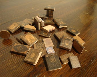 dollhouse ,miniature book,  package of antique books. 30 pcs 1/12 scale