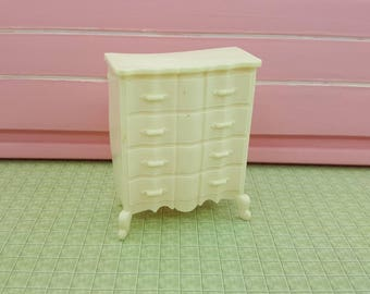 Marx  Bed room High boy  Soft Plastic French Provencal   Toy Dollhouse