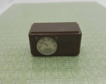 RESERVED A Renwal Radio Toy Dollhouse Traditional Style brown  mid century modern