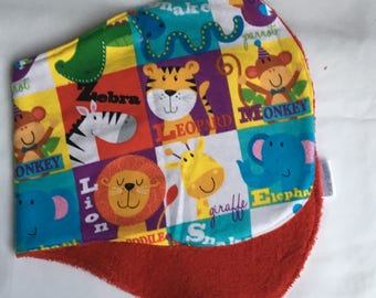 Zoo Animals Baby Burp Cloth