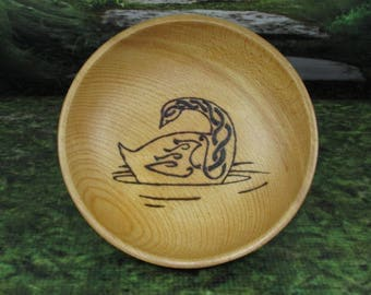 Norse Bowli, Blot Blessing Bowl, Frigga's Goose, Blot Bowl, Asatru Ritual Bowl, Asatru Blessing Bowl, Viking Blessing Bowl, Viking Bowli