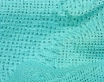 "NEW Leather 12""x12"" PANAMA Robin Egg Mint Basket Weave Embossed Cowhide 2-2.5 oz/0.8-1 mm PeggySueAlso™ E8000-07"