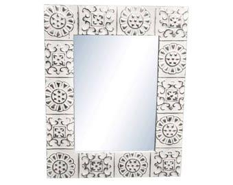 Pinwheel 22 in. x 22 in. Tin Mirror