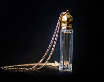 Perfume Bottle Necklace - Victorian Potion Amulet - Choose your scent - Vial 3ml