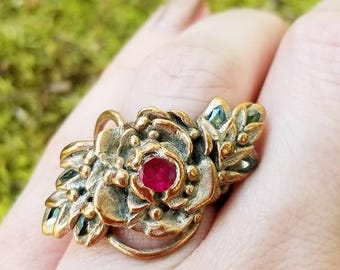 Ruby ring, Rustic Ruby ring, July Ruby ring, Real Ruby ring, Ruby engagement ring, Ruby Ring vintage, Ruby July Birthstone, July Birthstone