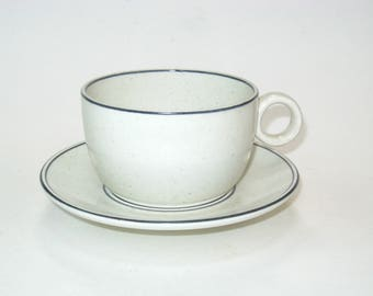 Gustavsberg BIRKA Stig Lindberg Coffee Tea Cup & Saucer Set Sweden