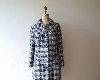 Vintage 1960s coat . 60s wool tweed coat