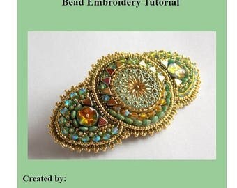 Summer sale -15% DIY , KIT, Pattern, Tutorial and materials, Bead embroidery ,Beading pattern, Instructions and materials , Jaipur barrette
