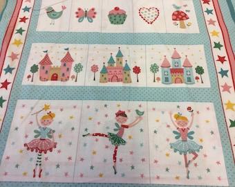 Makower 1551 Tutu fairy pocket panel