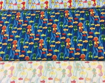 Fabric Freedom under the sea in 3 colours FF84 by the Half Metre