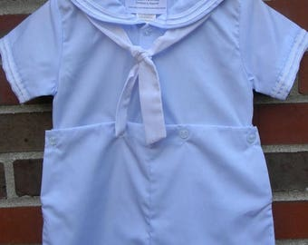 SALE 50% OFF 50 Percent OFF Baby Boy Baptism Christening Shortall
