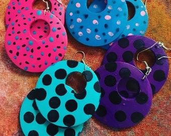 2 PAIRS FOR 30! Punk Style Hoop Earrings