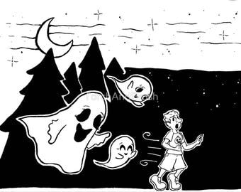 Ghost Chase - Inktober 2017