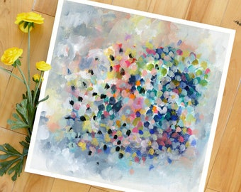 Abstract Art Print, Large Print, Colorful Abstract, square art, fun print, expressionist abstract