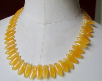 "Golden yellow fluorite necklace with Ethiopian opals 18"" OOAK Yellow statement bib necklace"