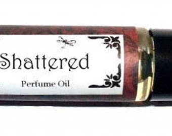 SHATTERED -  Roll on Premium Perfume Oil -  2 sizes to choose from - 1/3 oz or 1/6 oz -  blackberry, strawberry, raspberries, coconut