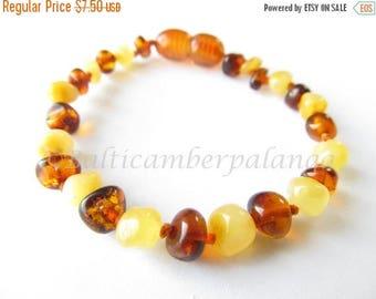 SALE Baltic Amber Teething Bracelet/Anklet