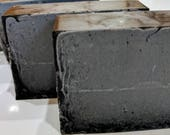 All Natural Tea Tree, Peppermint, Charcoal, Shea Butter and Hemp Soap 5-6oz