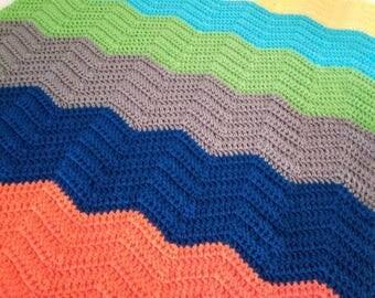 CHEVRON CROCHET baby blanket/Afghan