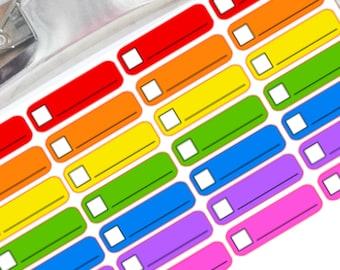 Bright colored box planner stickers for Erin Condren