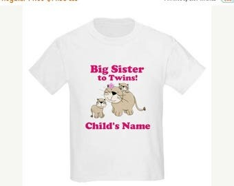 ON SALE Big Sister Twins Shirt Big Sister to Be Personalized T Shirt