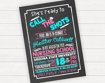 Nursing School Graduation Invitation, Medical School, Nursing Student, Nursing Graduation Announcement, Nursing Graduation Invitation