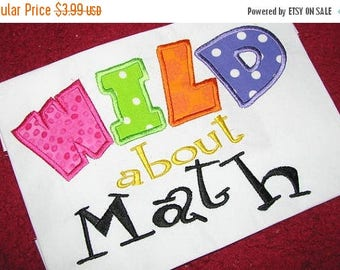 ON SALE Wild About Math Machine Applique Embroidery Design - 4x4, 5x7 &6x8