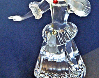 Collectible SWAROVSKI CRYSTAL COLUMBINE Figurine Limited Edition No Box Excellent Condition