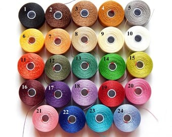 S-Lon Superlon Beading Thread, Tex 45 - Size D, 1 - 75 Yard Bobbin, 24 Different Colors to Choose From (INDOC56)